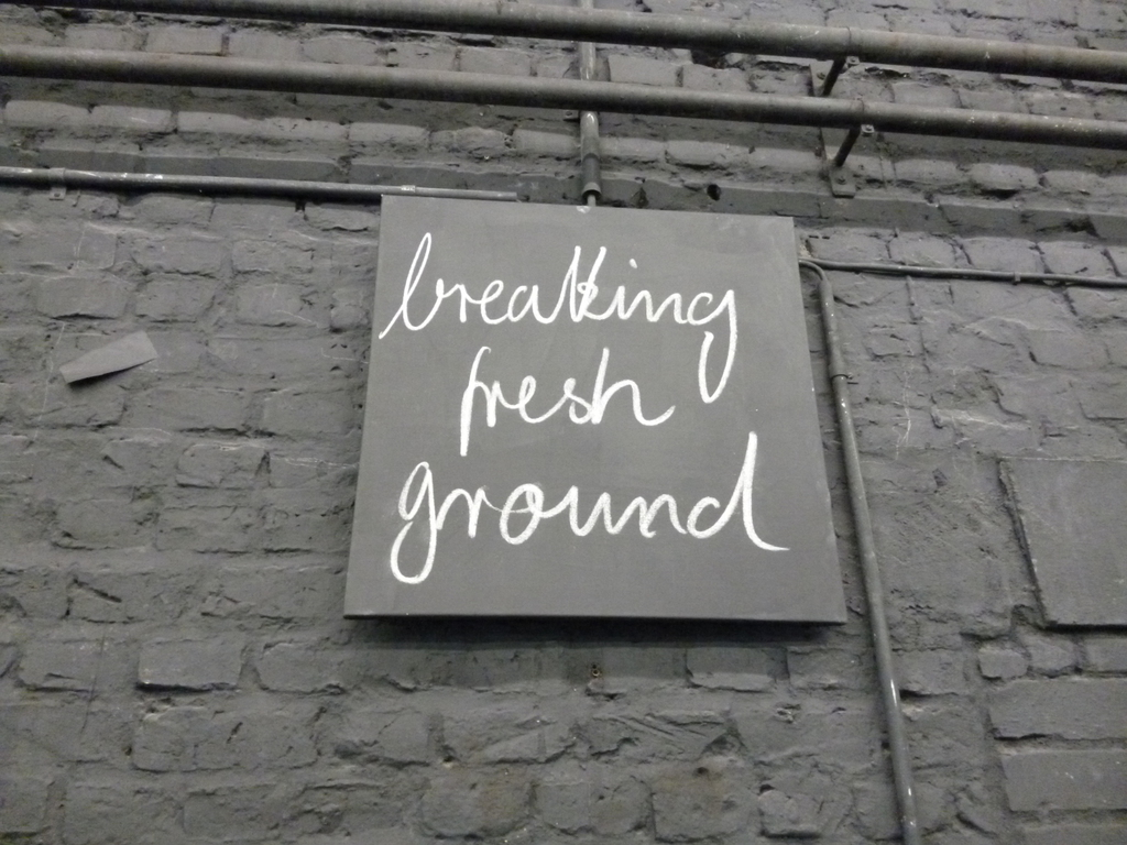 breaking fresh ground